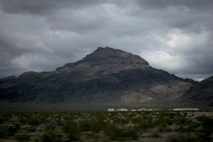 Desert mountain on the way to Death Valley